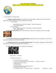 Outline Three Hunger and the Global Environment and Related Micronutrients.doc