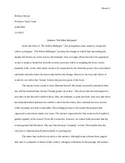 Short Essay- The Yellow Wallpaper.docx