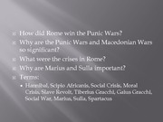 Lecture 05 Rome Punic Wars plus