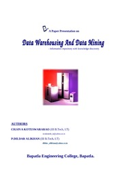 Data Warehousing And Data Mining