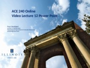 Power Point for Video Lecture 12