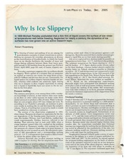 Why Is Ice Slippery