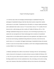 Chapter 10 Reading Assignment EDUC 800