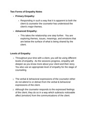 Two Forms of Empathy Notes