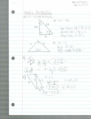right triangle notes