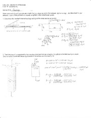 Exam 1 Solution Spring 2014 on Mechanics of Materials