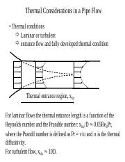 thermal considerations in pipe flows