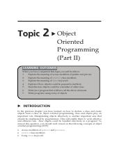 Topic_2_Object_Oriented_Programming_Part_II