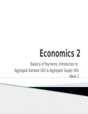 Wk3 - Balance of Payments, AD  AS-2
