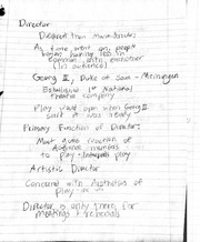 Class notes on director and design