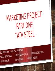 Marketing report_TATA Steel_Group 9_Sec B