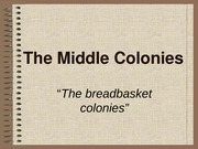 The Middle Colonies-2