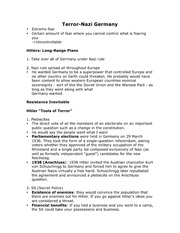 History - Terror in Nazi Germany Lecture Notes