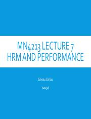Lecture7PerformanceMN4213AY15-16