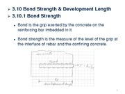 L10 - Bond, Development Length & Splices