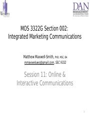 Session 11 - _PPT_ Online _ Interactive Communications _Ch 7_