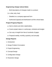 Engineering change notices Notes