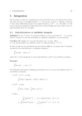 HG1M01 Calculus and its Applications - Lecture 12 - Integration