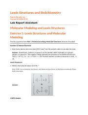 Lewis Structures and Stoichiometry Report.docx