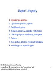 Chapter5 Lithography_I