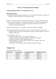 Week 11 Tutorial Questions Solutions