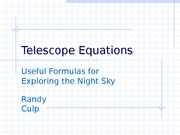 TelescopeEquations