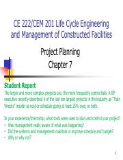 Chapter 7 - Project Planning