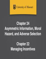 Ch 24 and 22 - Asymmetric Information and Managing Incentives-Canvas-1.pptx