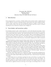 Lecture 7 - notes (data of monetary policy)