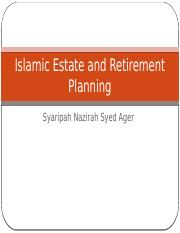 Islamic Estate & Retirement Planning