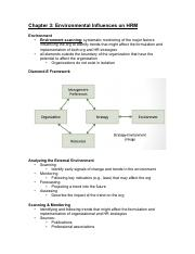 Chapter 3-Enviro Influences on HRM
