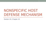 15 Nonspecific Host Defense Mechanism.ppt