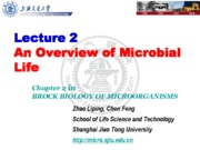 02-1 Lecture 2 An Overview of Microbial Life