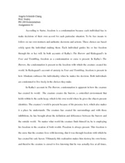 kierkegaard and tillich essay angela schmidt chang prof sealey 2 pages existentialism essay
