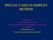 7. SPECIAL CASES IN SIMPLEX METHOD
