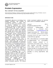 Experiment 6 Protein Expression