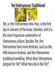 vietnamese new year essay Tet holiday vietnam is a country in the eastern hemisphere that was influenced by china for many years therefore, the chinese new year and tet, the vietnamese new.