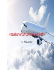 Development of Commercial Aircraft