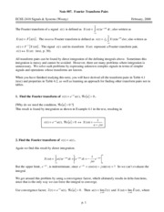 Note #07_Fourier Transforms