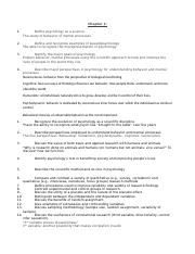 Chp 1 & 2 study guide