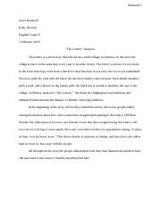 The Lottery Essay .docx