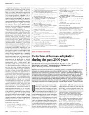 Field 2016 Human Adaptation in past 2000 years .pdf