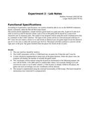 ECSE 221 Experiment 2 Lab Notes