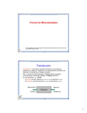 Force for microactuation