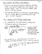 CPSC 513 Analysis of Quasi-Linear Systems Notes