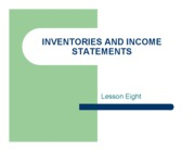 Inventories and Income Statements