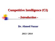1_Introduction to Competitive Intelligence