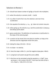 Solutions to Review 1