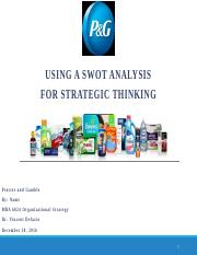 MBA6024 u06a1 Using a SWOT for Strategic Thinking