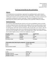 Purifying Acetanilide by Recrystallization Lab report 3.docx